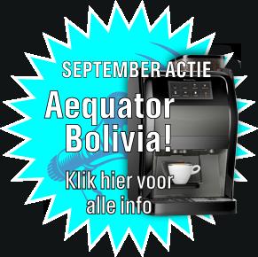 Koffiemachine aanbieding Aequator Bolivia
