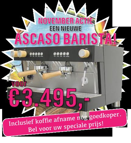 Espresso machine aanbieding Ascaso Barista